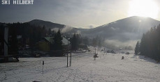 Preview webcam image Harrachov - ski lift Hilbert