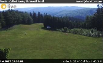 Preview webcam image Chvalčov - Ski areal Tesák