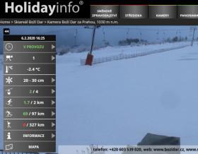 Preview webcam image Boží Dar - skiarena