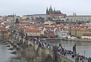 Preview webcam image Prague - Charles Bridge - Prague Castle