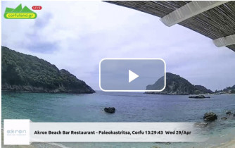 Preview webcam image Palaiokastrítsa - Platakia Beach