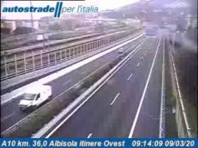 Preview webcam image Albisola Superiore - Traffic A10 - KM 36,0