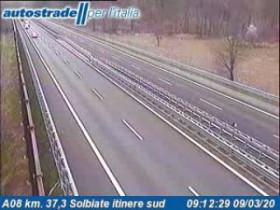 Preview webcam image Albizzate - Traffic A08 - KM 37,3
