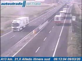Preview webcam image Altedo - Traffic A13 - KM 21,0