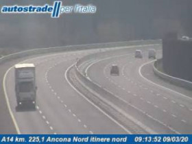Preview webcam image Ancona - Traffic A14 - KM 224,6