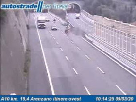 Preview webcam image Arenzano - Traffic A10 - KM 19,4