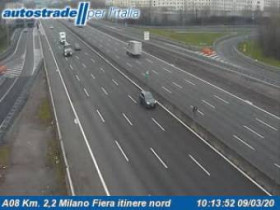 Preview webcam image Arese - Traffic A08 - KM 2,2