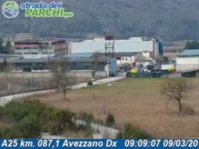 Preview webcam image Avezzano - Traffic A25 - KM 087,1
