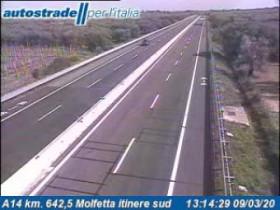 Preview webcam image Bisceglie - A14 - KM 642,5