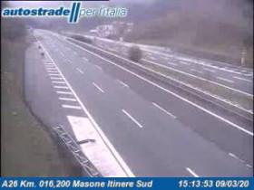 Preview webcam image  Campo Ligure - A26 - KM 16,2