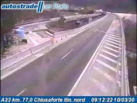 Preview webcam image Chiusaforte - A23 - KM 77,0