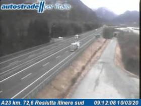 Preview webcam image Chiusaforte - A23 - KM 72,6