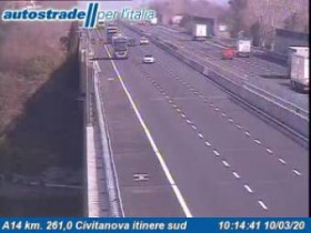 Preview webcam image Civitanova Marche - A14 - KM 261,0