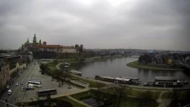Preview webcam image Krakow - Wawel and the Vistula River