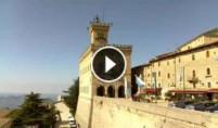 Preview webcam image San Marino - Piazza Libertà and Palazzo Pubblico