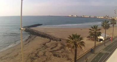 Preview webcam image Cádiz - Beach Santa María del Mar