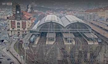 Preview webcam image Prague Main Railway Station