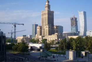 Preview webcam image Warsaw - the Palace of Culture and Science