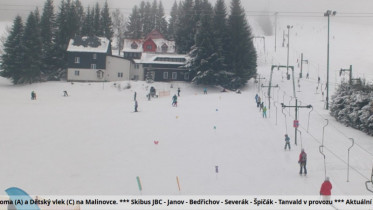 Preview webcam image Bedrichov - Skiarena Jizerky