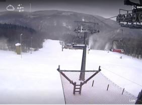 Preview webcam image Klíny - ski resort