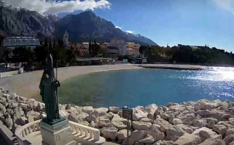 Preview webcam image Baška Voda - Nikola beach