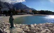 Náhledový obrázek webkamery Baška Voda - Saint Nikola and beach