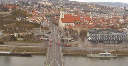 Preview webcam image Bratislava - bridge SNP