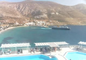 Preview webcam image Beach Aegialis - Amorgos