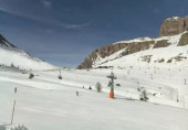 Preview webcam image Ski resort Passo Pordoi - Arabba