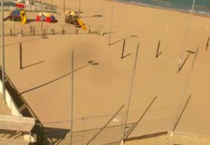Preview webcam image Beach Volley sulla spiaggia di Pescara