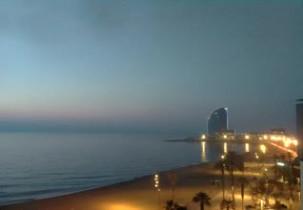Preview webcam image Barcellona - beach the Passeig del Mare Nostrum