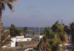 Preview webcam image Lanzarote - Playa de las Cucharas