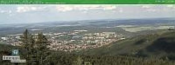 Preview webcam image Ilmenau, view from the Kickelhahnturm (north-east)