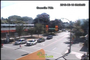 Preview webcam image Vancouver Granville Street & 70th - East