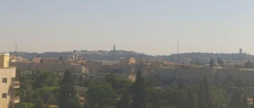 Preview webcam image Jerusalem - hotel Inbal
