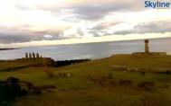 Preview webcam image Bay Hanga Roa - Moai Statues