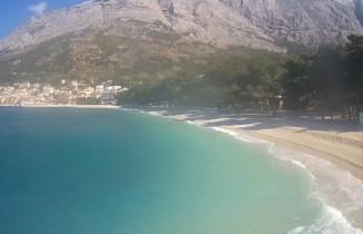 Náhledový obrázek webkamery Baška Voda - Borik - pláž Nikolina
