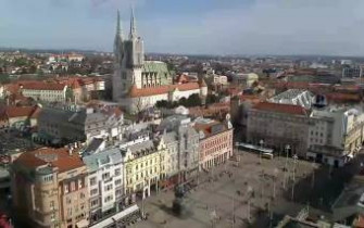 Preview webcam image Zagreb - Bana Jelacica Square
