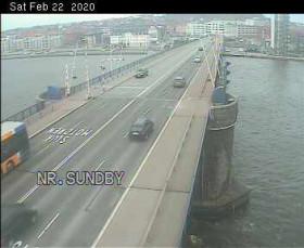 Preview webcam image Aalborg - Rute 180 Limfjordsbroen N